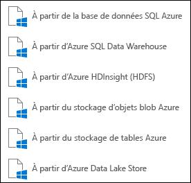 Obtenir des données depuis Microsoft Azure