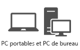 Ordinateurs portables et ordinateurs de bureau