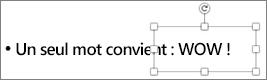 Aligner le texte de la forme sur le texte standard pour qu'ils aient le même aspect