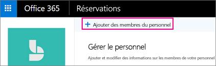 Ajouter du bouton personnel sur page de personnel réservations