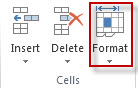 Format de cellule dans l'onglet Accueil