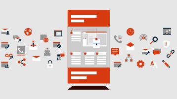 Affiche d'infographie sur un arrière-plan comportant des icônes