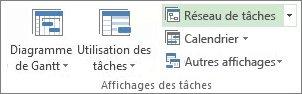 Image du bouton Réseau de tâches sur l'onglet Affichage.