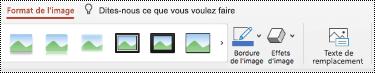 Bouton texte de remplacement dans le ruban d'une image dans PowerPoint pour Mac.
