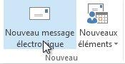Commande Nouveau courrier électronique sur le ruban