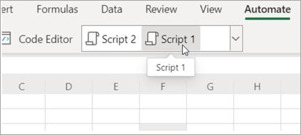 Afficher les scripts Office