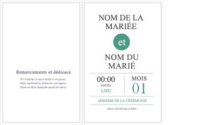 Image conceptuelle d'un programme de mariage