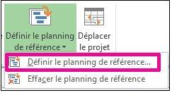 Définir un planning de référence pour votre projet