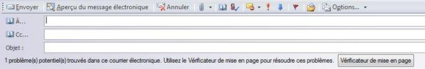 Envoyer la composition sous forme de message électronique dans Publisher2010