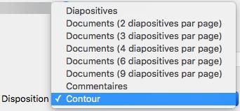Dans la boîte de dialogue Imprimer, sélectionnez la disposition Plan