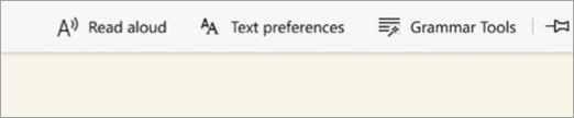 Options du lecteur immersif de bord