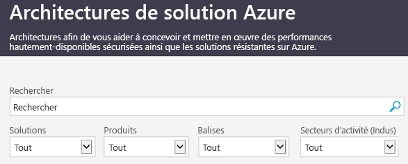 Site solutions d'architecture Azure
