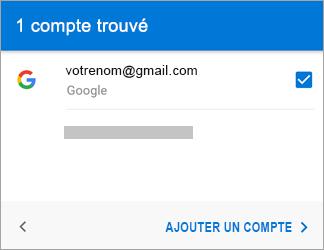Appuyez sur Ajouter un compte pour ajouter votre compte Gmail à l'application