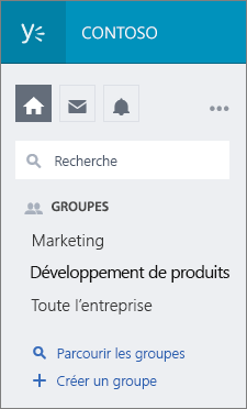 Groupes Yammer