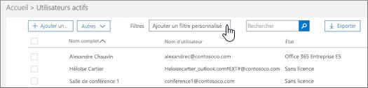 Ajouter un filtre personnalisé