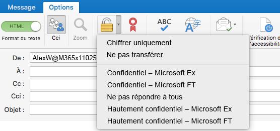 Nouvelle option de chiffrement avec prise en charge du chiffrement des messages Office365, modèles Ne pas transférer et Gestion des droits relatifs à l'information (IRM)