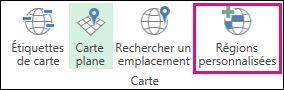 Régions personnalisées