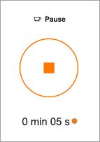 Appuyez sur le bouton Arrêter pour mettre fin à un saut.