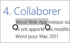 Sélection de texte en mode tactile dans Office Online