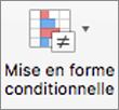 Bouton Mise en forme conditionnelle