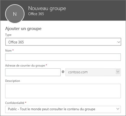 Créer un groupe Office365, une liste de distribution ou un groupe de sécurité