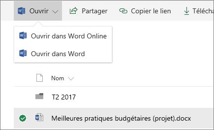 SharePoint Online Ouvrir une bibliothèque de documents