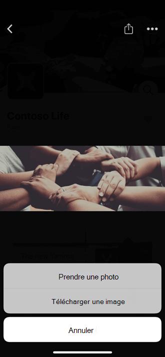Télécharger une photo mobile dans votre communauté Yammer