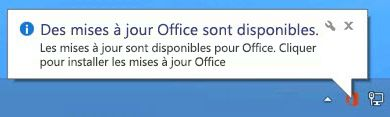Des mises à jour Office sont disponibles