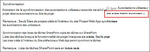 Synchroniser des listes de tâches SharePoint
