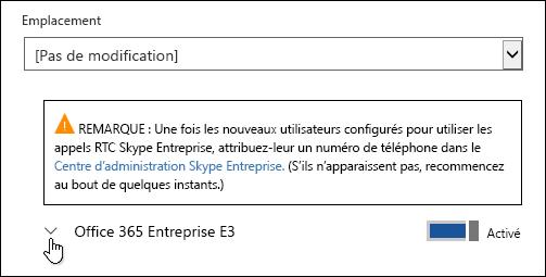 Développer la licence pour afficher la fonctionnalité Microsoft Forms