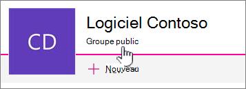 Le sous-titre que groupe s'affichent sur les sites connectés au groupe