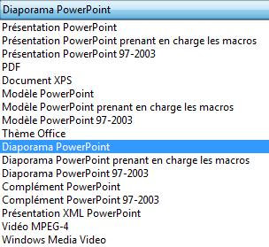 Enregistrer votre présentation en tant que diaporama PowerPoint.