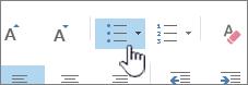 Boutons Puces et numéros dans Outlook