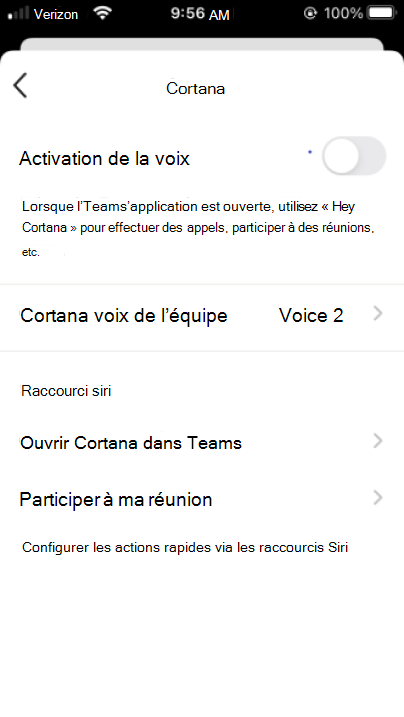 Bouton Cortana mobile activer Cortana