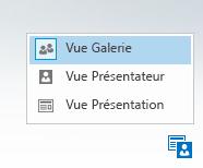 Capture d'écran du menu Modifier la disposition avec trois options