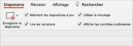Option conserver les diapositives mise à jour