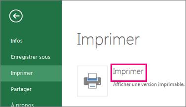 Commande Imprimer