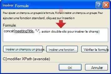 Double clic pour insérer un autre champ à utiliser dans le nom du formulaire