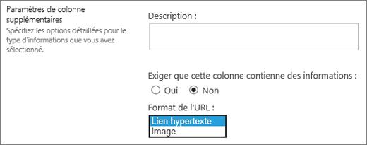 Grand choix de colonnes image/lien hypertexte