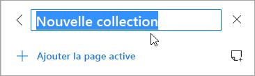 Capture d'écran du titre de collection modifié