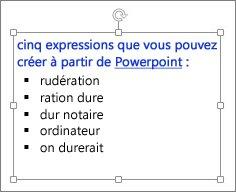 Mise en forme dans une zone de texte PowerPoint