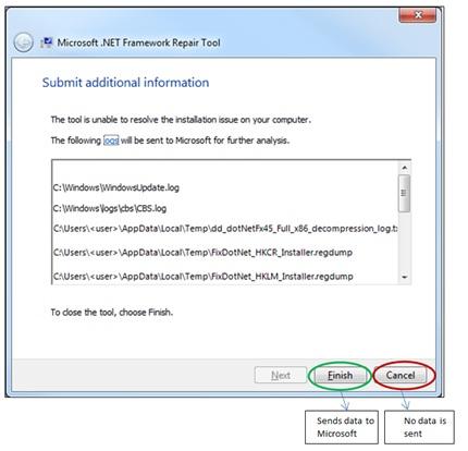 Lorsque vous utilisez l'option « /q », nous vous recommandons d'utiliser également l'option « /logs » pour enregistrer les journaux à un emplacement spécifique ou sur un partage réseau pour la prise en charge de scénarios d'entreprise.