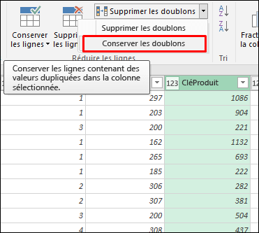 Power Query - Conserver les doublons