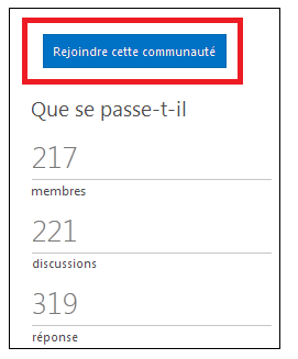 capture d'écran du bouton qui invite à rejoindre cette communauté.