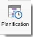 L'icône Planification apparaît dans l'onglet Réunion Organisateur.