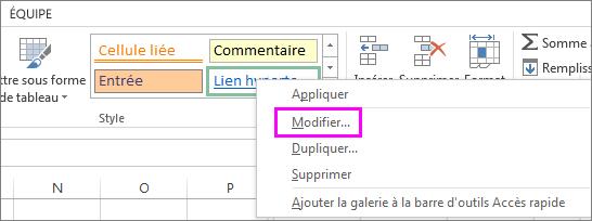 Style de lien hypertexte dans la galerie des polices