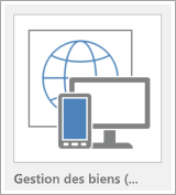 Bouton de modèle de l'application web Access