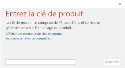Utiliser Des Cl 233 S De Produit Avec Office 365 Office 2016