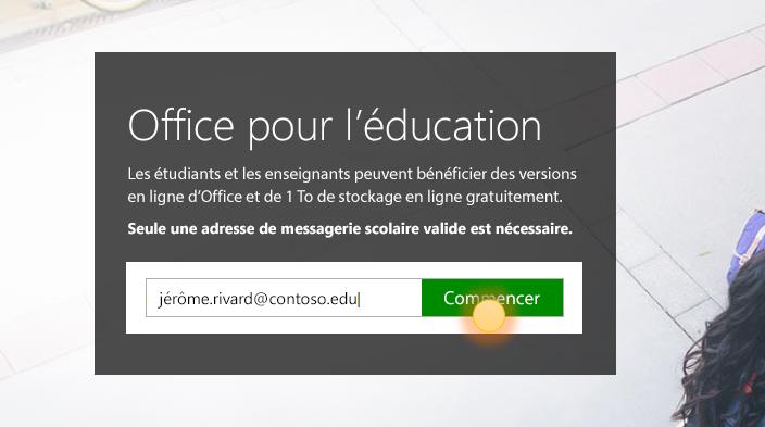 Capture d'écran de la page prise en main de connexion.