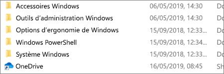 Application OneDrive dans l'Explorateur de fichiers
